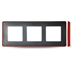 8201630-252 82 Detail Рамка, 3 поста, графит, красное основание