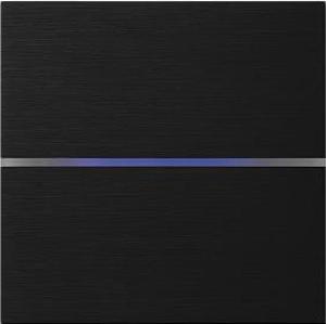 Sentido  лицевая панель, двухклавишный, цвет черный арт.201-03