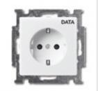 2011-0-3854 (20 EUC/DV-94) BJB Basic 55 Бел Розетка с/з с маркировкой DATA
