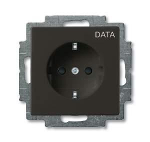2011-0-6143 (20 EUC/DV-95) BJB Basic 55 Шато (чёрн) Розетка с/з с маркировкой DATA