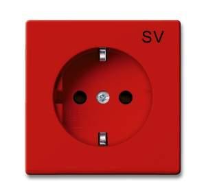 2011-0-6151 BJB Basic 55 Красный Розетка SCHUKO 16А 250В, с маркировкой SV