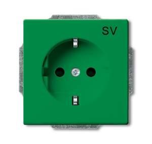 2011-0-6152 BJB Basic 55 Зелёный Розетка SCHUKO 16А 250В, с маркировкой SV