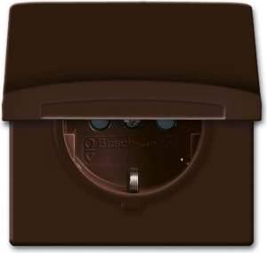 2064-0-0291 BJE Allwetter 44 Корич Розетка SCHUKO, 20 EUGKB-31-101, с крышкой, с защ шт 16А, 250В IP44