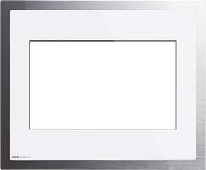 208012 Рамка KNX/EIB белое стекло/алюминий