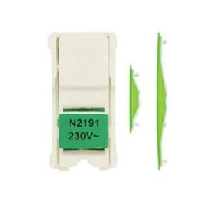 2191 VD NIE Stylo Вставка подсветки для Выключатели и кнопок (зеленый корпус)