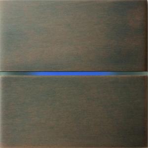 Sentido  лицевая панель, двухклавишный, цвет бронза арт.201-05