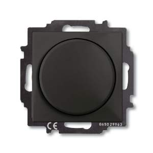 B 2251 UCGL-95-507 BJB Basic 55 DIY Шато (чёрн) Светорегулятор поворотно-нажимной 60-400 Вт для л/н