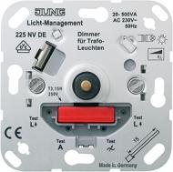 225NVDE Мех Светорегулятор поворотно-нажимной 20-500 Вт/ВА для л/н и обмоточных трансформаторов