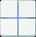 Enzo лицевая панель - четырехклавишный - кожа белая арт.204-14