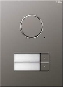 250220 Дверная аудиодомофонная станция Сталь на 2 абонента