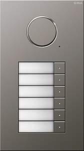 250620 Дверная аудиодомофонная станция Сталь на 6 абонентов