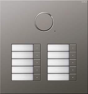 251020 Дверная аудиодомофонная станция Сталь на 10 абонентов