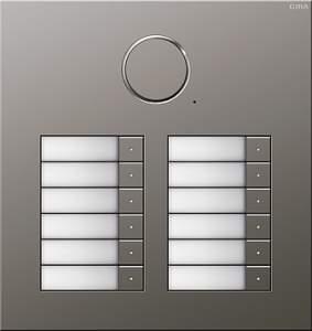 251220 Дверная аудиодомофонная станция Сталь на 12 абонентов