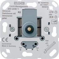 254UDIE1 Мех Светорегулятор поворотно-нажимной 50-420 Вт/ВА для л/н,электрон. и обмоточных тр-ров