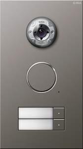 255220 Дверная видеодомофонная станция Сталь на 2 абонента