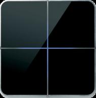 Enzo лицевая панель - четырехклавишный - стекло черное арт.204-03