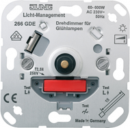 266GDE Мех Светорегулятор поворотно-нажимной 60-600 Вт для л/н 60-600Вт