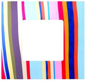2700627-801 27 Play Многоцветный Поток Рамка-декор 2 поста, Play