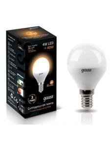 Лампа Gauss LED Globe Crystal Clear E14 4W 2700K 1/10/50