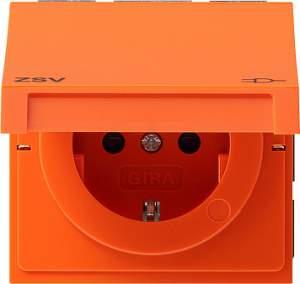 2751119 Розетка с зазем конт защ от дет надп ZSV оранжевый