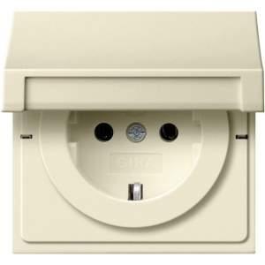 2754111 Розетка с з/к с откидной крышкой, контрольной лампой, защитой от детей
