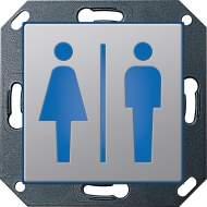 """2791203 Светодиодный указатель с пиктограммой """"Мужской и жеский туалет"""""""