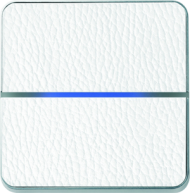 Enzo лицевая панель - двухклавишный - кожа белая арт.203-14