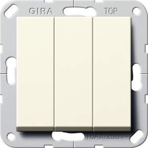 """283001 Выключатель """"Британский стандарт"""" 3-х клавишный ВКЛ/ОТКЛ."""