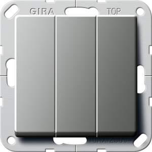 """283020 Выключатель """"Британский стандарт"""" 3-х клавишный ВКЛ/ОТКЛ."""