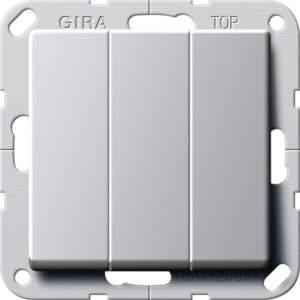 """2830203 Выключатель """"Британский стандарт"""" 3-х клавишный ВКЛ/ОТКЛ."""