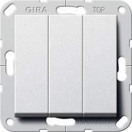 """283026 Выключатель """"Британский стандарт"""" 3-х клавишный ВКЛ/ОТКЛ."""