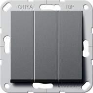 """283028 Выключатель """"Британский стандарт"""" 3-х клавишный ВКЛ/ОТКЛ."""