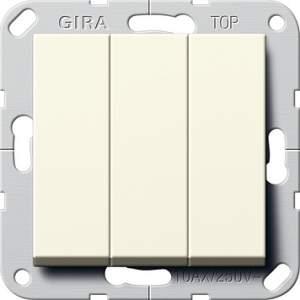 284401 Выключатель3-клавишный (звонок) с винт. клеммами