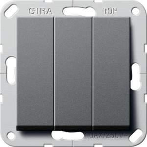 284428 Выключатель3-клавишный (звонок) с винт. клеммами