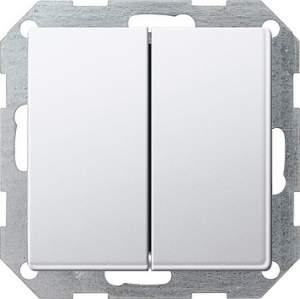 2860201 Двухклавишный выключатель с самовозвратом 10А 250В, вертикальный