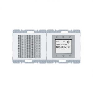 Berker 28807009 FM Радиоприёмник встроенный для серии K.1/K.5, Цвет: полярная белезна серия  купить в Москве, цена в России: опт