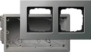 2882202 Монтажная коробка Е22 двухместная с рамкой