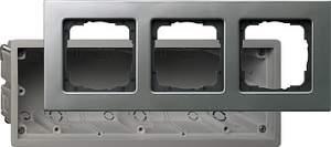 2883202 Монтажная коробка Е22 трехместная с рамкой