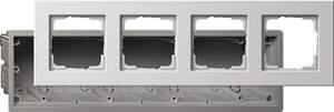 2884201 Монтажная коробка Е22 четырехместная с рамкой