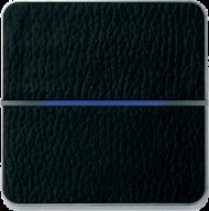 Enzo лицевая панель - двухклавишный - кожа черная арт.203-13