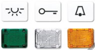 33T CD 500/CD plusБеж Линза с символом КЛЮЧ для клавиши с окошком