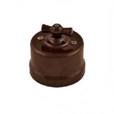 В1-202-02 выключатель двухклавишный,цвет коричневый