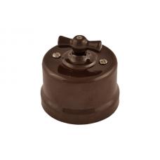 В1-203-02 перекрестный выключатель,цвет коричневый