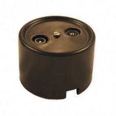 В1-305-02 розетка R/TV-Sat оконечная цвет коричневый
