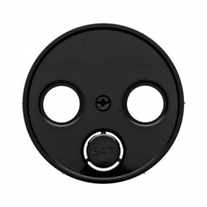 Berker 45020112032045 Антенная розетка, 2 отверстия, отдельная цвет: черный серия  купить в Москве, цена в России: опт, розница