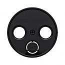 45230112032045 Антенная розетка, 3 отверстия, проходная цвет: черный