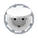 47442089 Штепсельная розетка SCHUKO с откидной крышкой, полярная белизна, с блеском, с защитой от детей VDE 0