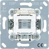 502KOTU Мех Выключатель 1-клавишный возвратно нажимной 2-х полюсной возм контрольной подсветки