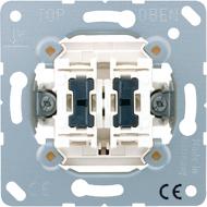 505KOU5 Мех Выключатель 2-клавишный возм контрольной подсветки, с N-клеммой