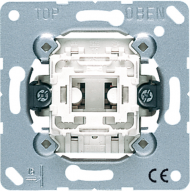 533U Мех Выключатель 1-клавишный кнопочный однополюсный с переключающим контактом